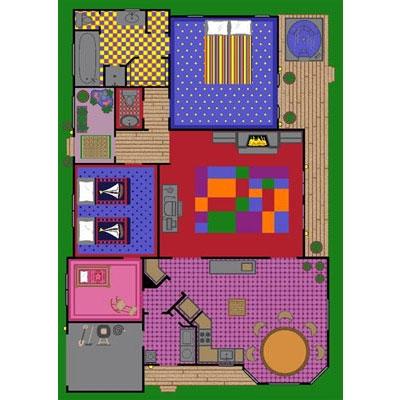 Creative Play House Rug