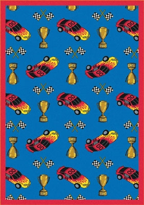 Joy Carpet Start Your Engines Rug - Blue