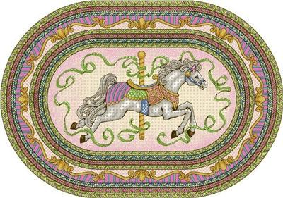 Carousel Rug - Pink