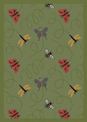 Wing Dings Rug - Green