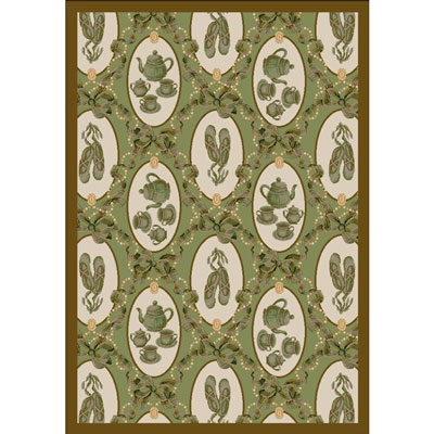 Ribbons and Bows Rug - Green