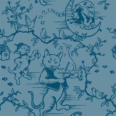 Fancy Fiddler Rug - Blue