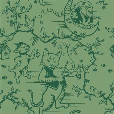 Fancy Fiddler Rug - Green