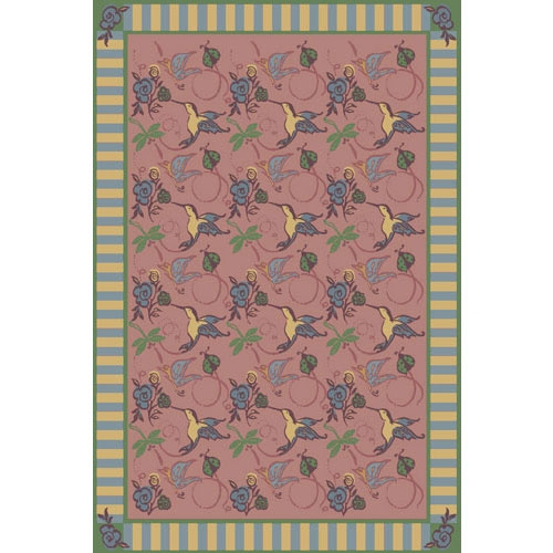 Flights of Fantasy Rug - Rose