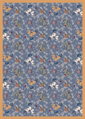 Joy Carpet Flower Garden Rug - Blue