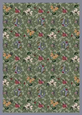 Joy Carpet Flower Garden Rug - Green