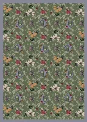 Flower Garden Rug - Green