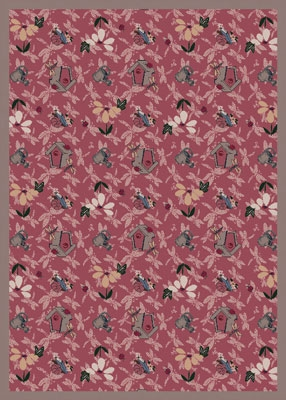 Joy Carpet Flower Garden Rug - Rose