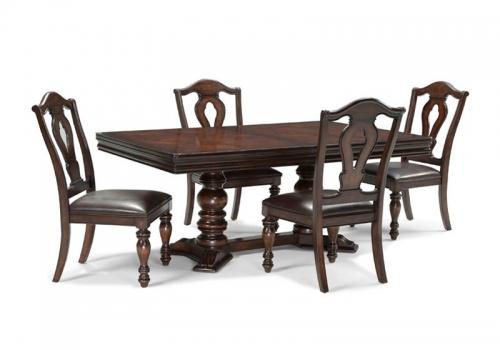 T Havana Rectangular Double Pedestal Table 378 1357