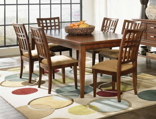 D Set Autumn Park Rectangular Leg Dining Collection Grid Back Chair 416 2499