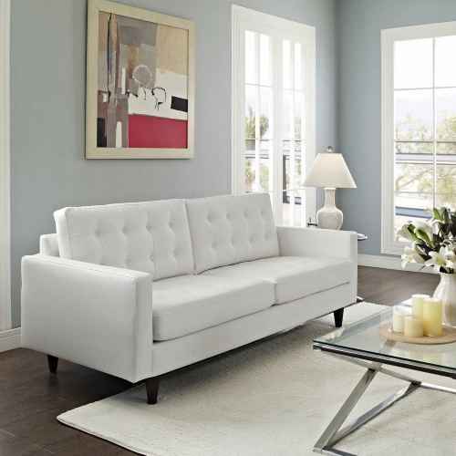 Empress Leather Sofa - White