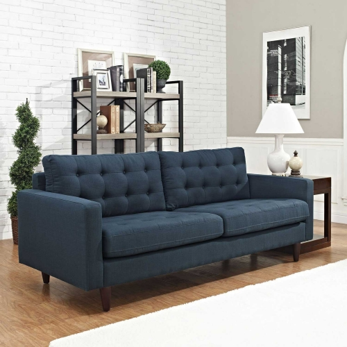 Empress Upholstered Sofa - Azure