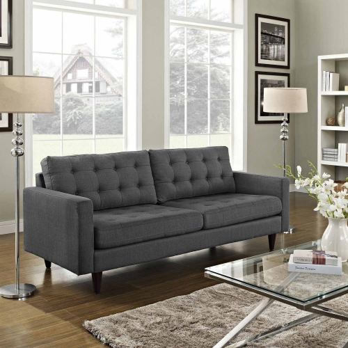 Empress Upholstered Sofa - Gray