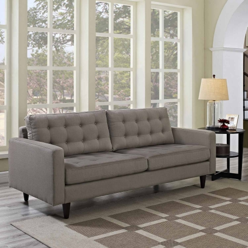 Empress Upholstered Sofa - Granite