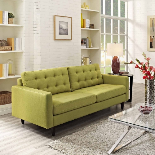 Empress Upholstered Sofa - Wheatgrass