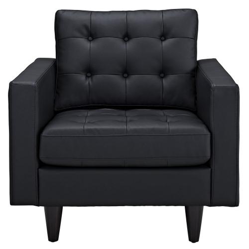 Empress Leather Armchair - Black