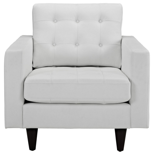 Empress Leather Armchair - White