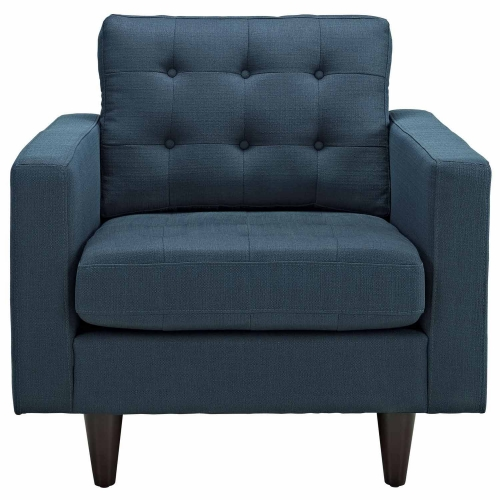 Empress Upholstered Armchair - Azure
