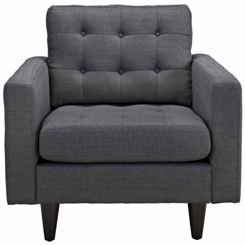 Empress Upholstered Armchair - Gray