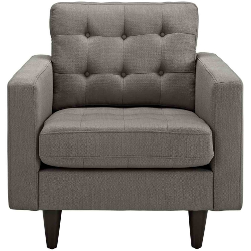 Empress Upholstered Armchair - Granite