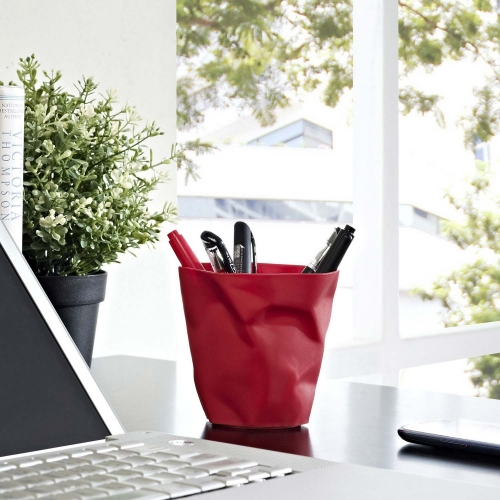 Lava Pencil Holder - Red