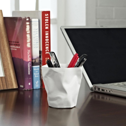 Lava Pencil Holder - White