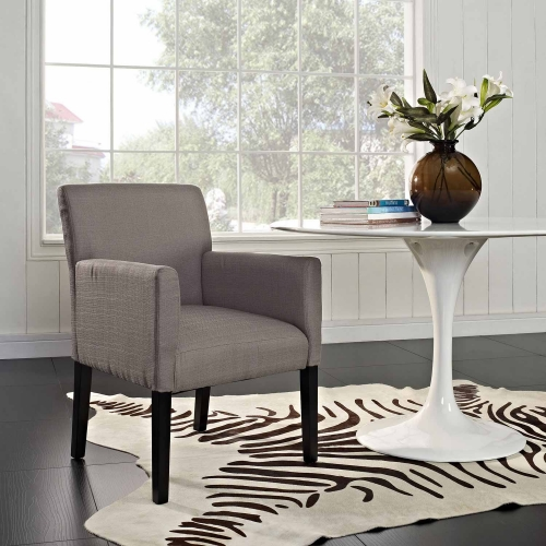 Chloe Wood Armchair - Gray