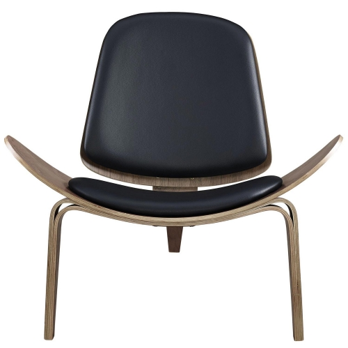 Arch Lounge Chair - Walnut Black