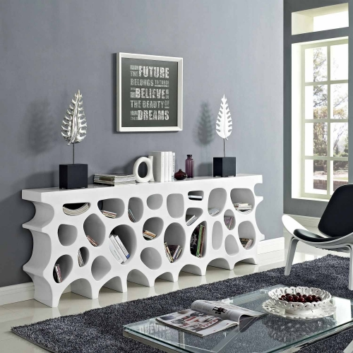 Wander Stand Storage Console Table - White