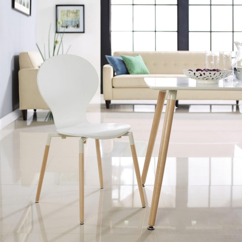 Path Dining Side Chair - White