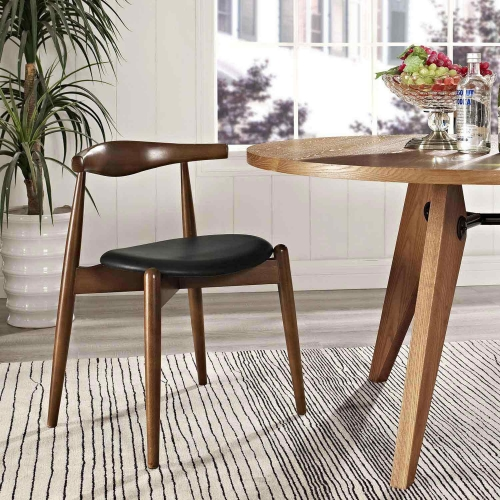 Stalwart Dining Side Chair - Dark Walnut/Black