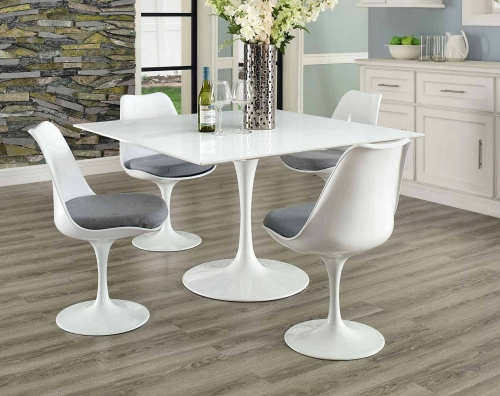 Lippa 47 Square Wood Top Dining Table - White