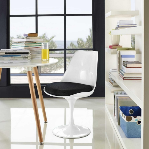 Lippa Dining Fabric Side Chair - Black