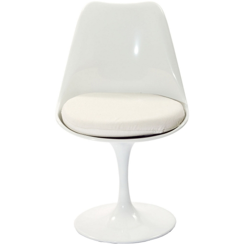 Lippa Dining Fabric Side Chair - White