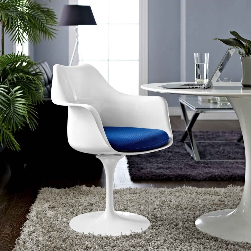 Lippa Dining Fabric Armchair - Blue