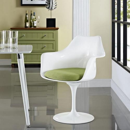 Lippa Dining Fabric Armchair - Green