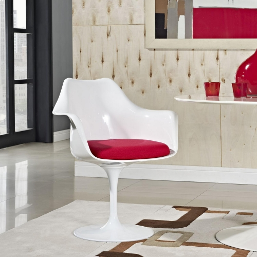 Lippa Dining Fabric Armchair - Red