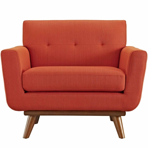 Engage Upholstered Armchair - Atomic Red