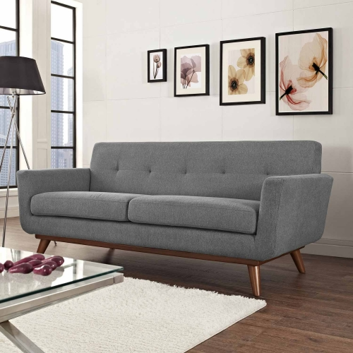 Engage Upholstered Loveseat - Expectation Gray