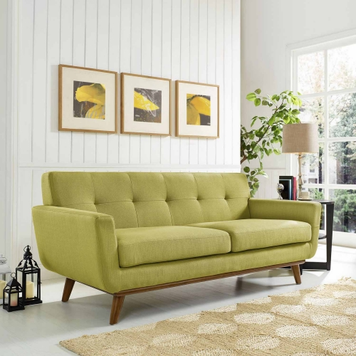 Engage Upholstered Loveseat - Wheatgrass