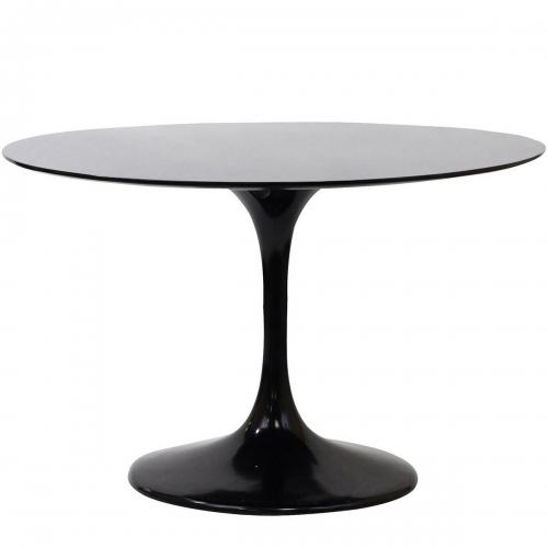 Lippa 40 Fiberglass Dining Table - Black