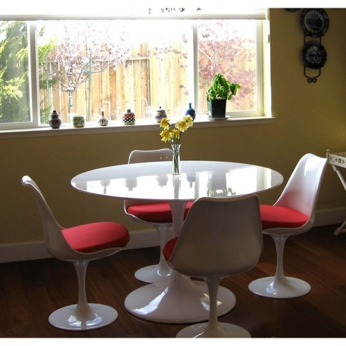 Lippa 40 Fiberglass Dining Table - White