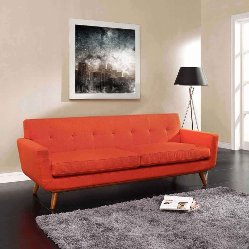 Engage Upholstered Sofa - Atomic Red