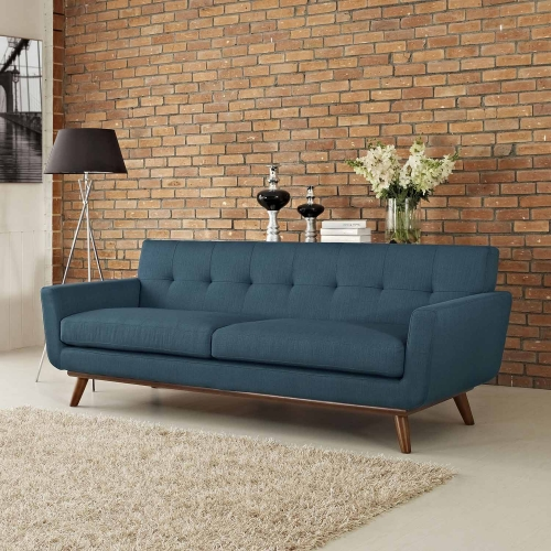 Engage Upholstered Sofa - Azure