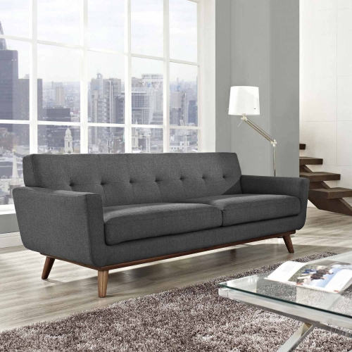 Engage Upholstered Sofa - Gray