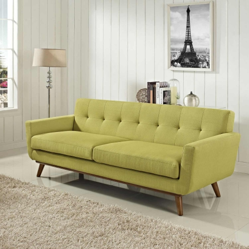 Engage Upholstered Sofa - Wheatgrass