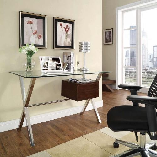 Stasis Office Desk - Walnut