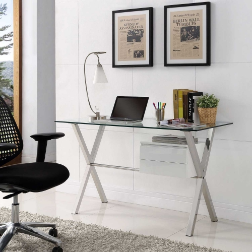 Stasis Office Desk - White