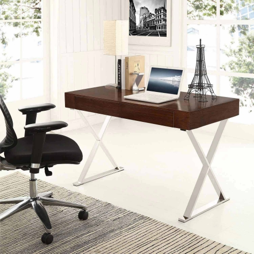 Sector Office Desk - Walnut
