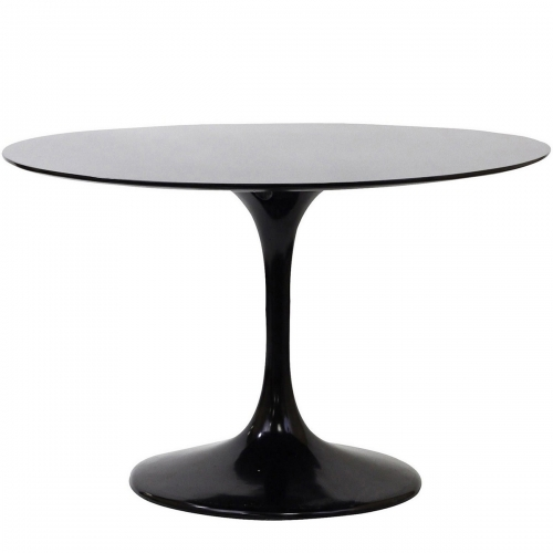 Lippa 48 Fiberglass Dining Table - Black